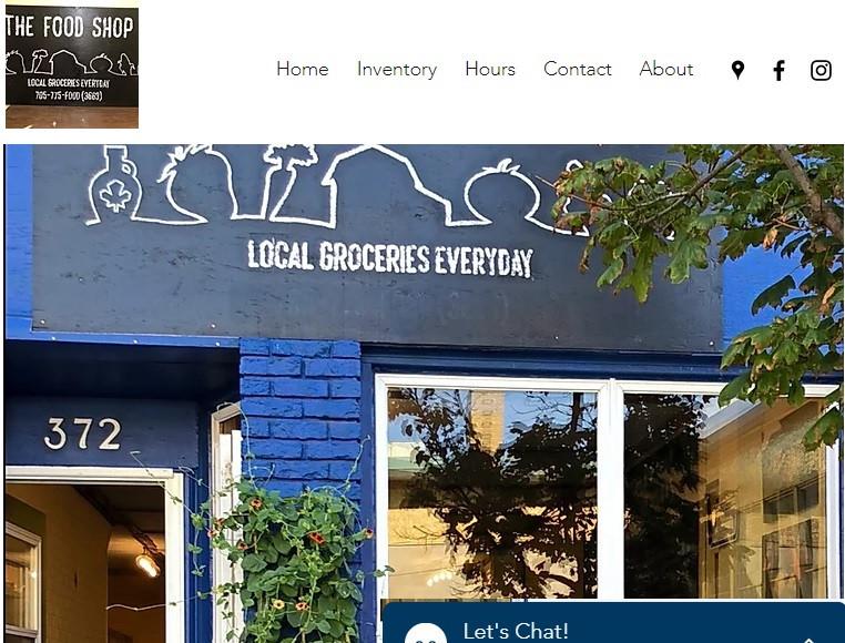 Food Shop Website