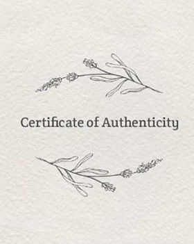 Produkter med Certificate of Authenticity fra Witchfamily. Bedriftens egne Special Products.