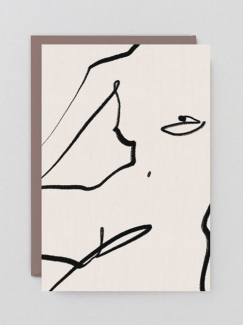 Nude on White Card