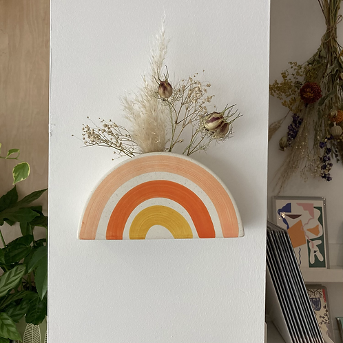 Rainbow shaped wall planter