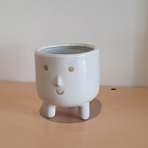 Smiley Face Pot with Legs