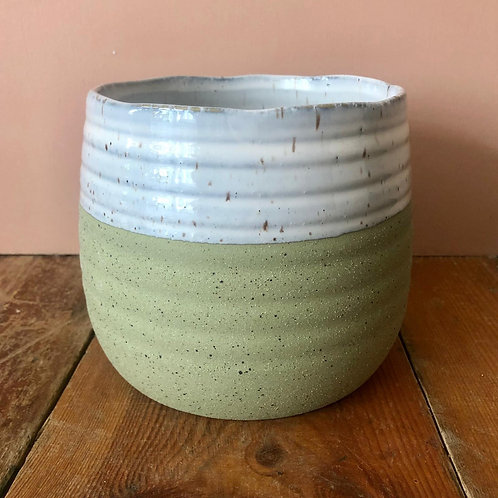 Fairfax Plant Pot - Green 16.2x16.2cm