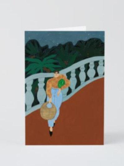 Watermelon carrier card