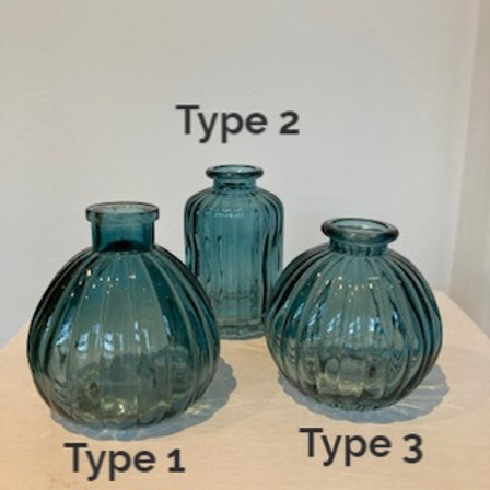 Small Glass Bud Vase - Three options in three colours