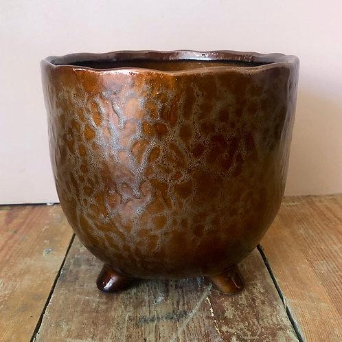 St Tropez Copper plant pot 18x17cm