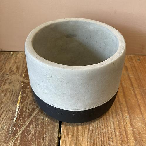 Black dip cement plant pot - Small 11.5x9cm