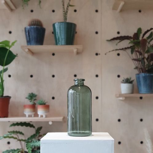 Retro Green Glass Bottle