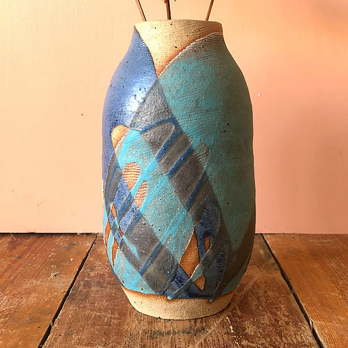 Shopaseed Blue Vase
