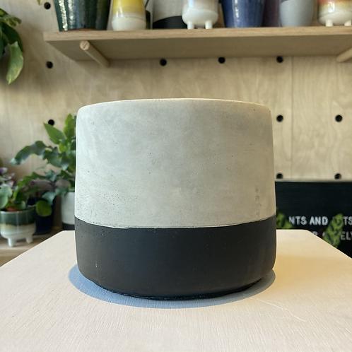 Cement black dipped plant pot