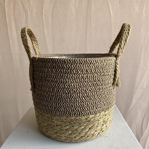 Seagrass Basket Plant Pot 22x19cm (various colours)