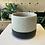 Thumbnail: Cement black dipped plant pot