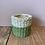 Thumbnail: Green Dip Cement Basket Plant pot - Small