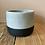 Thumbnail: Black dip cement plant pot - Small 11.5x9cm