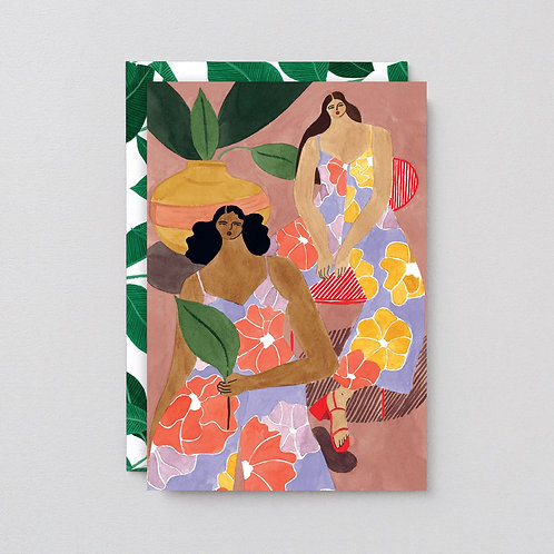 Floral girls card