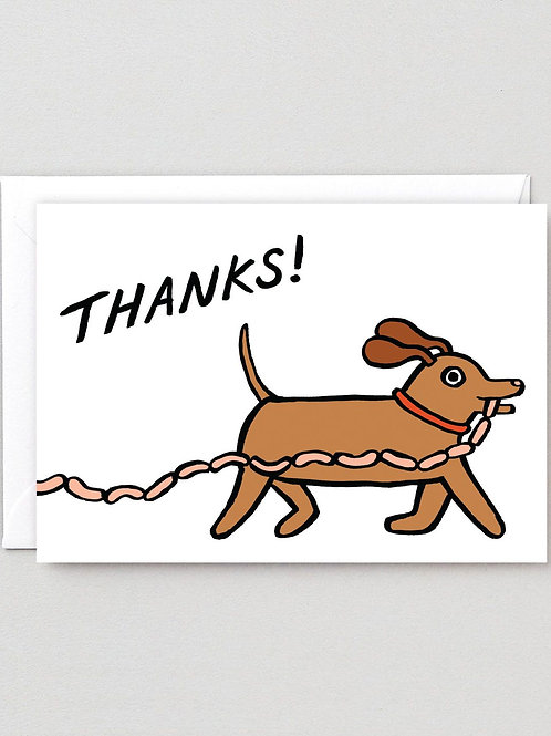 Thanks Sausages Card