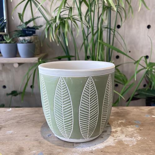Fernside Leaf Plant Pot 12.5x13.5x12