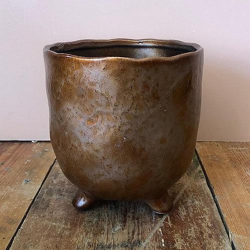 St Tropez Copper plant pot 14x15cm