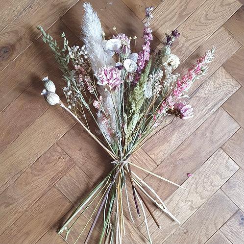 British Dried Bouquet - Pretty in Pink