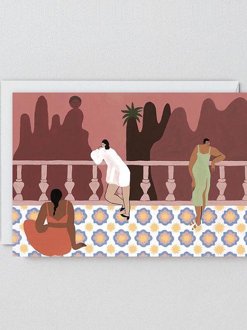The balcony card