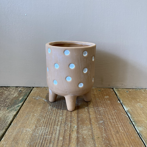 Polkadot spotty Plant Pot 8x8cm