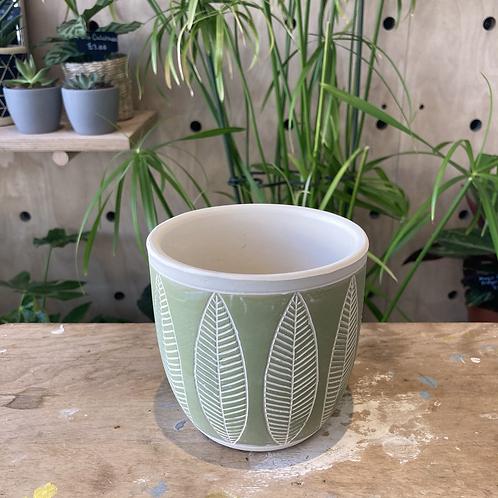 Fernside Leaf Plant Pot 10.5x10.5x10
