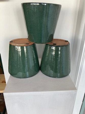 Alicante dark green pot 17x16cm
