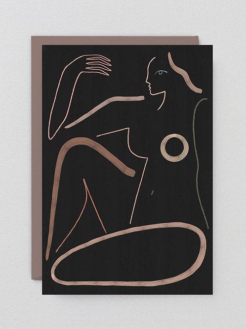Nude on Black Card