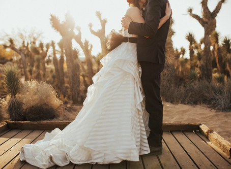 STACEY + DANIEL: SOCAL DESERT WINTER WEDDING