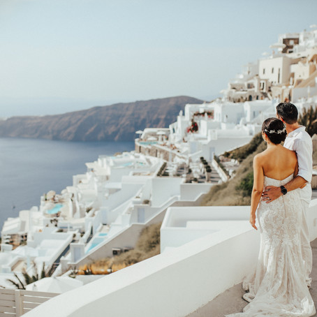 SANTORINI DESTINATION WEDDING: M + Z