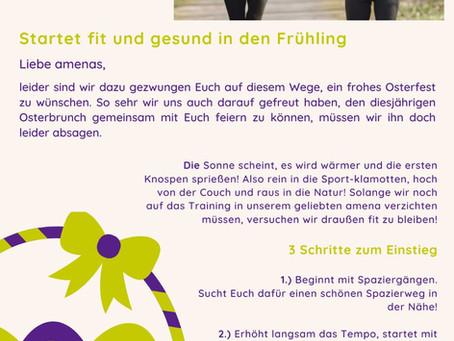 Startet fit und gesund in den Frühling - Oster Newsletter