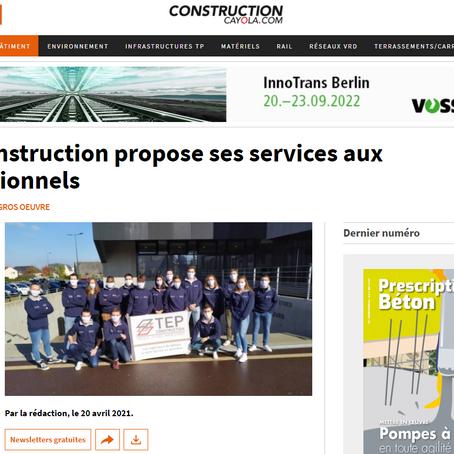 Presse externe : Construction Cayola