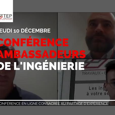 """Succès de la seconde édition des """"Conférence des Ambassadeurs de l'ingénierie"""" !"""