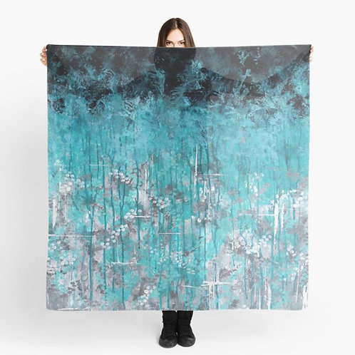 Dripping Turquoise Scarf