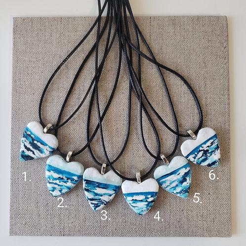 Ocean Heart Necklaces