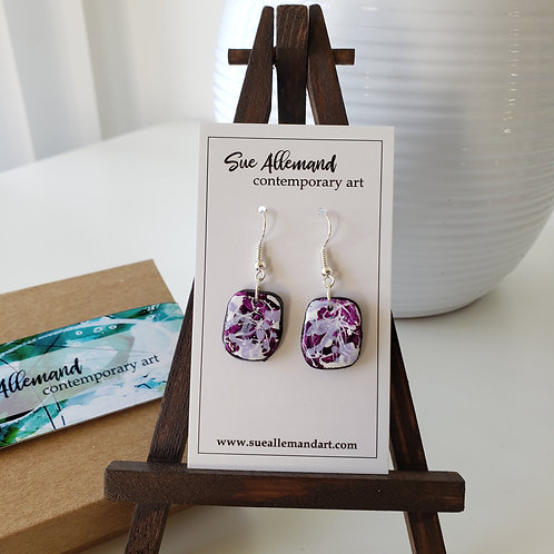 Purple & Lilac Rounded Square Dangles