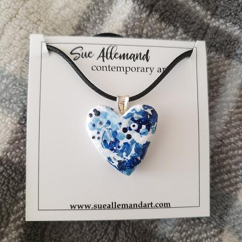 Small Blue Heart Pendant