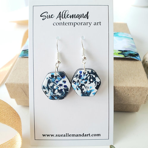 Hexagon Blue Dangles