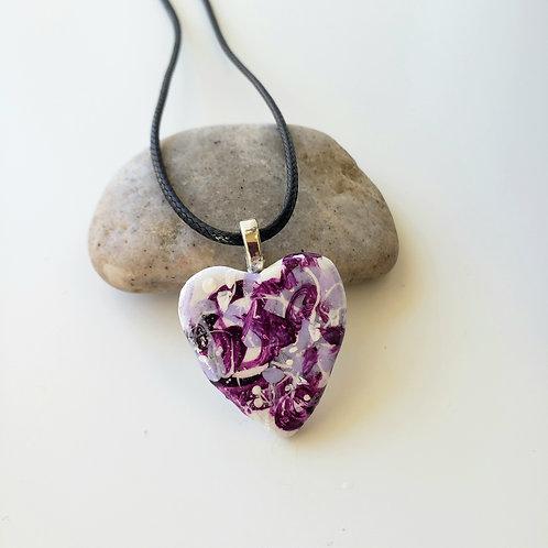 Purple Small Heart Pendant
