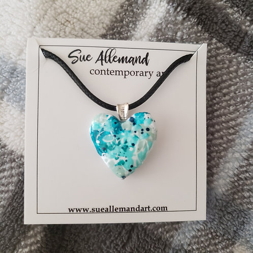 Turquoise Small Heart Pendant