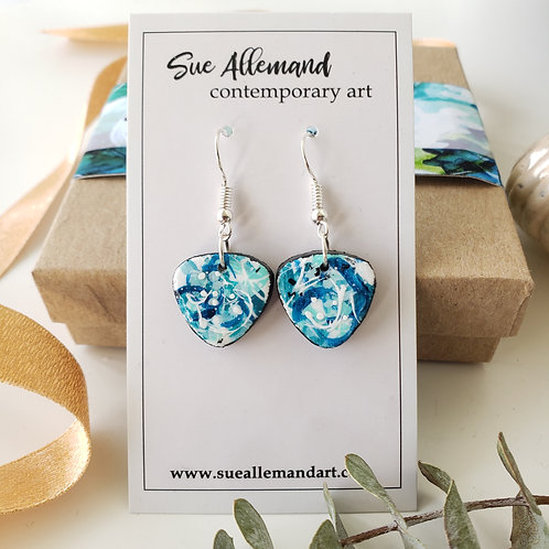 Turquoise Triangle Dangles