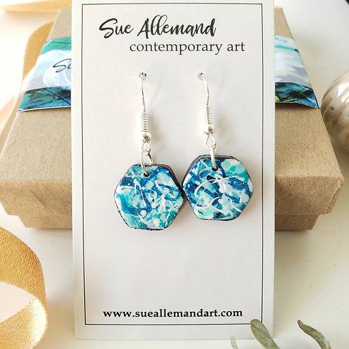 Hexagon Turquoise Dangles