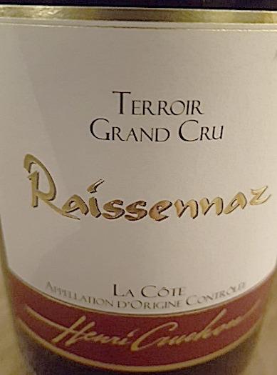 Pinot Noir La Raissennaz 2015