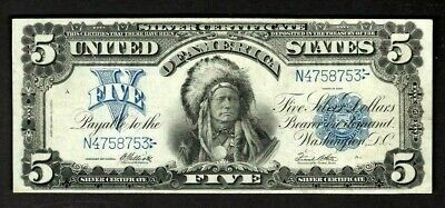 Old Money Value - 1899 $5
