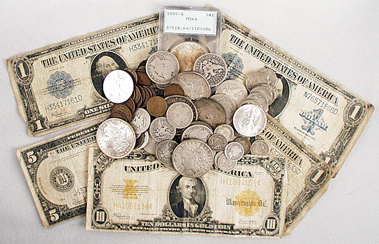 Coins and Paper Money