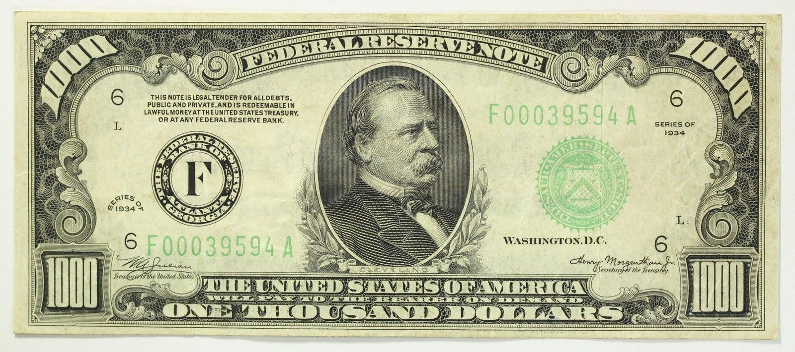 $1000 Bill Value