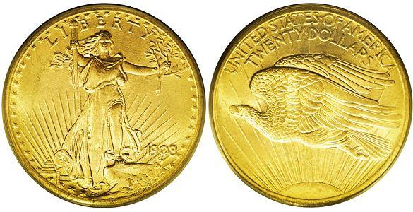 $20 Saint Gaudens Gold Coins