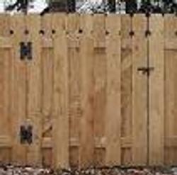 hinged gate