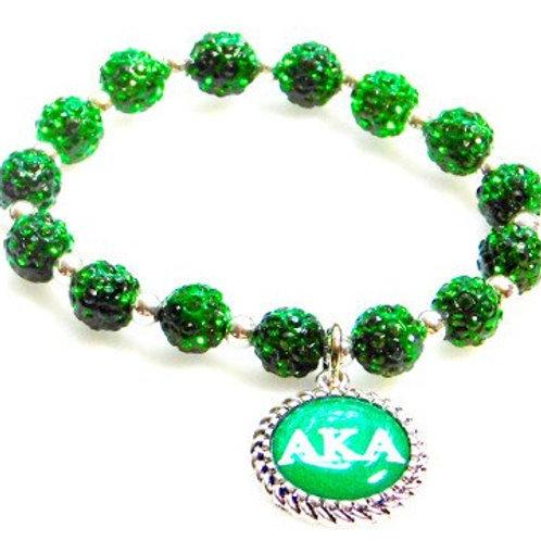 AKA Green Crystal Pendant Bracelet