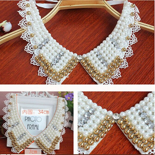 Touch of Gold Pearl Collar-AKA Greek
