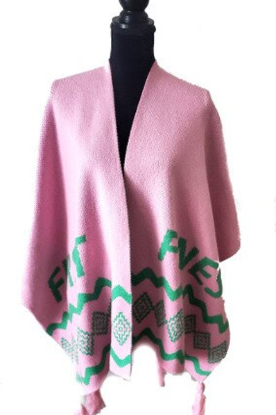 AKA First and Finest Shawl Front View